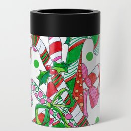 Candy Cane Party Can Cooler