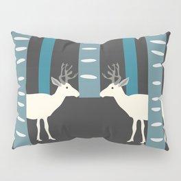 Deer in dark forest Pillow Sham