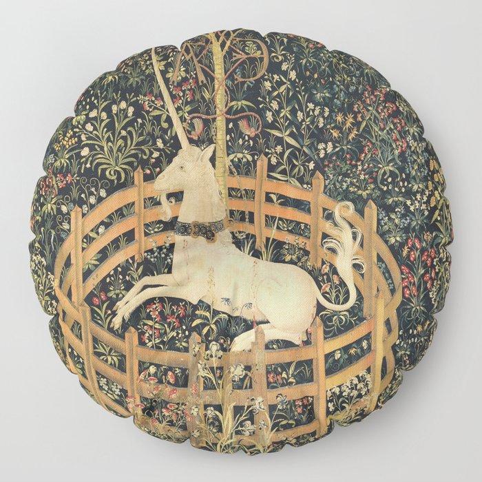 The Unicorn In Captivity Floor Pillow