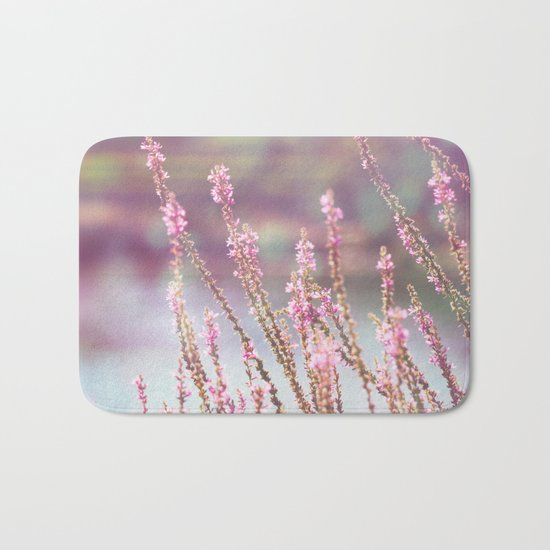 Pink flowers Bath Mat