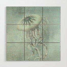 Jellyfish Underwater Aqua Turquoise Art Wood Wall Art