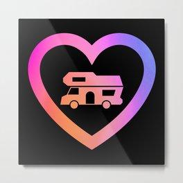 Motorhome Heart | Camper van Owner Gift Metal Print