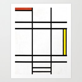 Piet Mondrian - Composition in White, Red, and Yellow Art Print