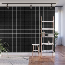Grid Simple Line Black Minimalist Wall Mural
