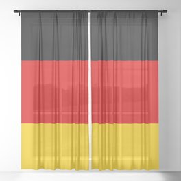 Flag of Germany - German Flag Sheer Curtain