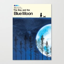 The Boy and the Blue Moon Canvas Print