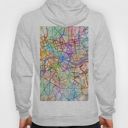 London England Street Map Hoody