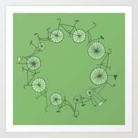 cycle Art Prints featuring Cycle by Anita Ivancenko