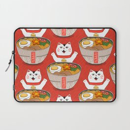 Liter of Ramen. Japanese soup and Manekineko cat. Laptop Sleeve