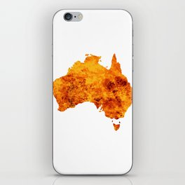 Australia Map With Flames Background iPhone Skin