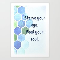 The Blue Quote Art Print