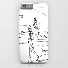 sketch of a lady Slim Case iPhone 6s