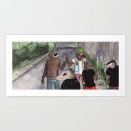 buds n' pals Art Print