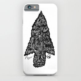 """Flint"" Hand-Drawn by Dark Mountain Arts iPhone Case"