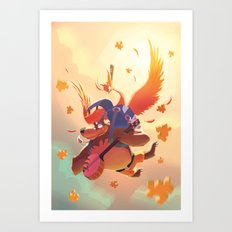 Banjo Kazooie Art Print