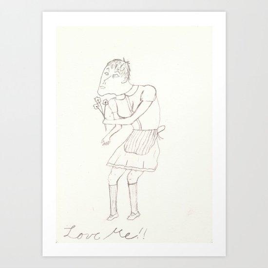 Love Me!! Art Print