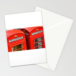 Red phone booth London Stationery Cards