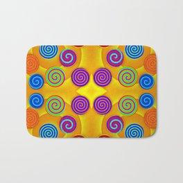 Colorful soft twirls by wool Bath Mat