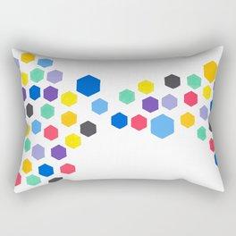 Hexagon Jewels Rectangular Pillow