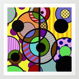 Patterned Retro - Geometric, Abstract Artwork Art Print