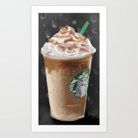starbucks Art Prints featuring Starbucks by Amit Naftali