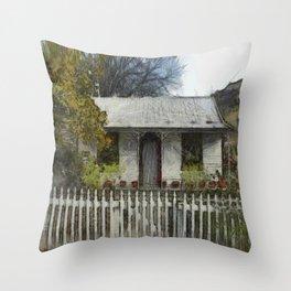 Settler's Cottage Throw Pillow