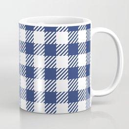 Blue Vichy Coffee Mug