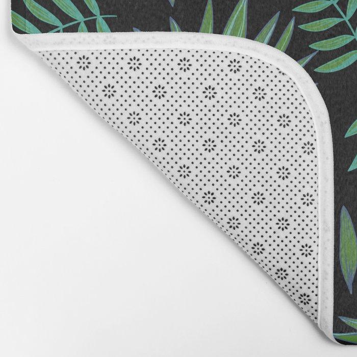 GREEN LEAVES PATTERN Bath Mat