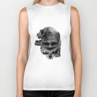 skulls Biker Tanks featuring Skulls by TattoosandartbyJared