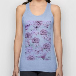 ORCHIDS ROSES MAGNOLIAS and Dragonflies Unisex Tank Top