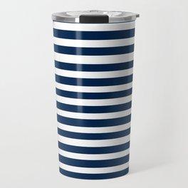 Navy-White ( Stripe Collection ) Travel Mug
