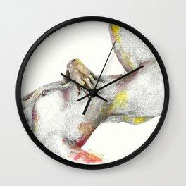 Nude Body study I Wall Clock