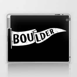 Boulder Colorado Pennant Flag B&W // University College Dorm Room Graphic Design Decor Black & White Laptop & iPad Skin