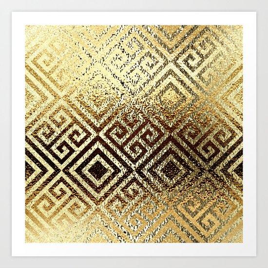 Elegant gold #1 Art Print