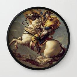 Napoleon Crossing the Alps Wall Clock