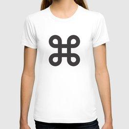 Geometric Pattern #87 (gray black loops) T-shirt
