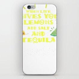 Lemons Gluten Free Celiac Disease Funny Distressed T Shirt iPhone Skin