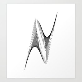 """""""Linear Collection"""" - Minimal Letter N Print Art Print"""