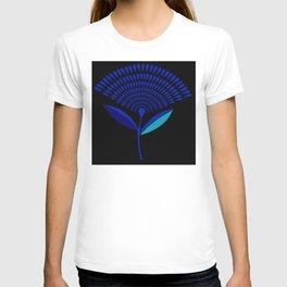 Mid Century Modern Dandelion Seed Head In Princess Blue T-shirt