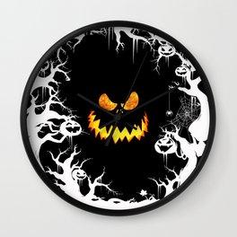 Nightmare Halloween Smile Jack Wall Clock