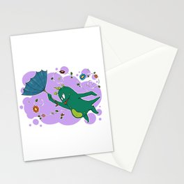 Windy spring days Stationery Cards