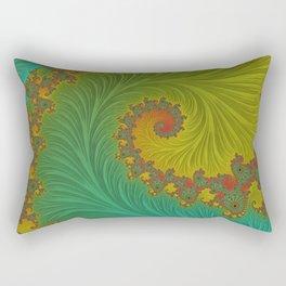 Velvet Crush - Teal and Tangerine Rectangular Pillow