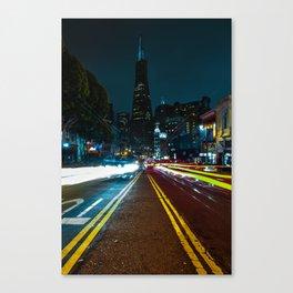 Transamerica Building at Night Canvas Print
