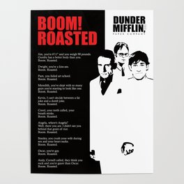 The office posters Dwight Schrute The Office Poster Boom Roasted Poster Society6 The Office Posters Society6