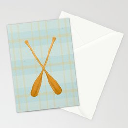 Summer Plaid Paddles Stationery Cards
