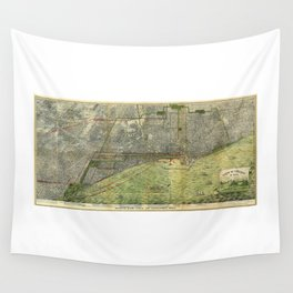 Aerial View of Chicago, Illinois by Peter Roy (1893) Wall Tapestry