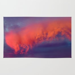Floating Caterpillar in the Sky Rug