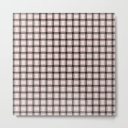 Small Pastel Pink Weave Metal Print
