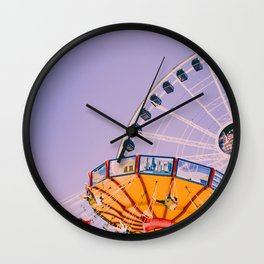 Swing Ride Sunset (Color) Wall Clock