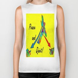 American Sign Language Peace and Quiet Biker Tank